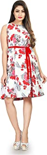 Dsk Studio Womens and Girls Crepe Western One Pieces Dresses_dfk001_Pink