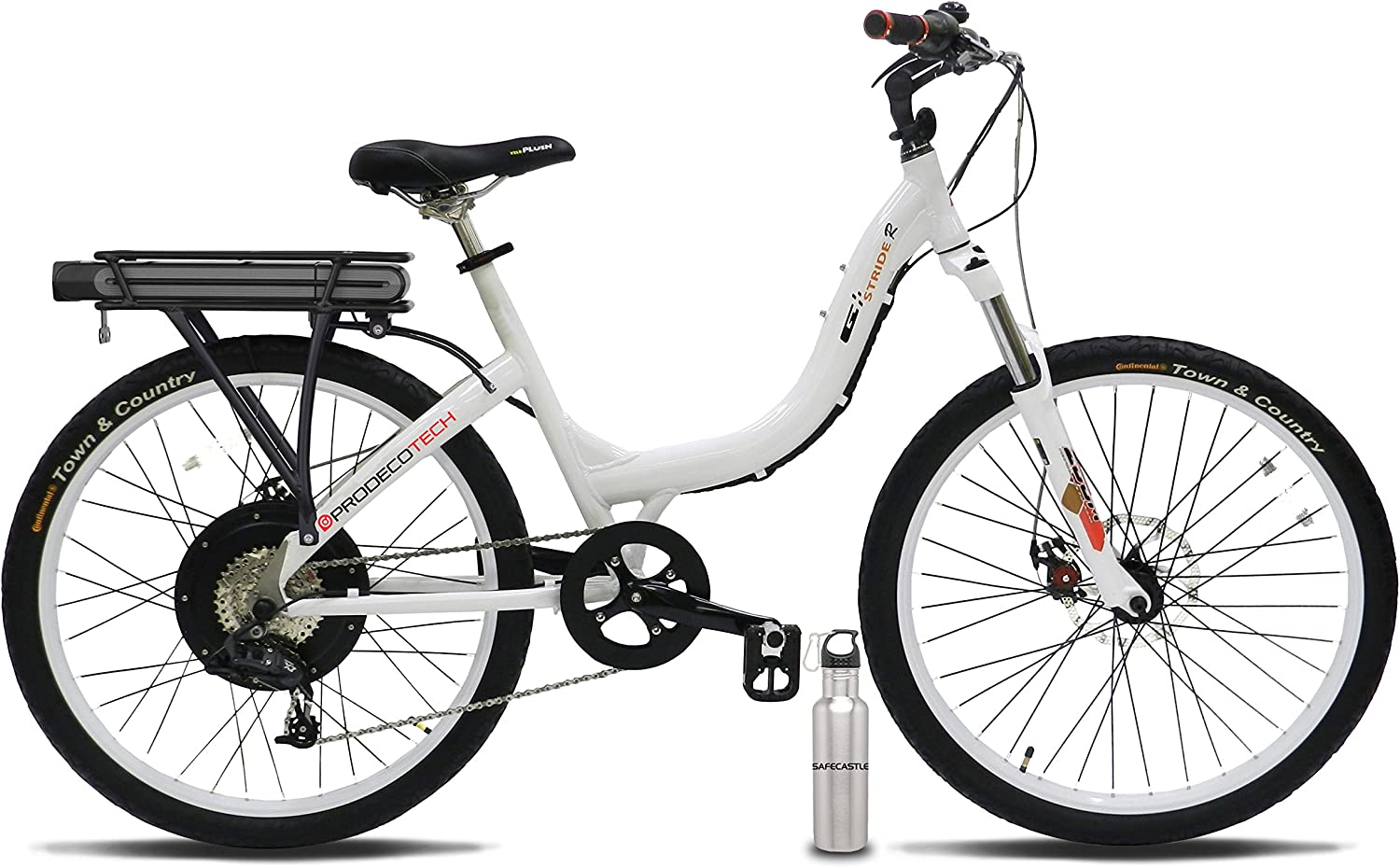 Prodeco V5 Philadelphia Mall Popular standard Stride R 500 8 Speed White Glo Bicycle Electric Pure