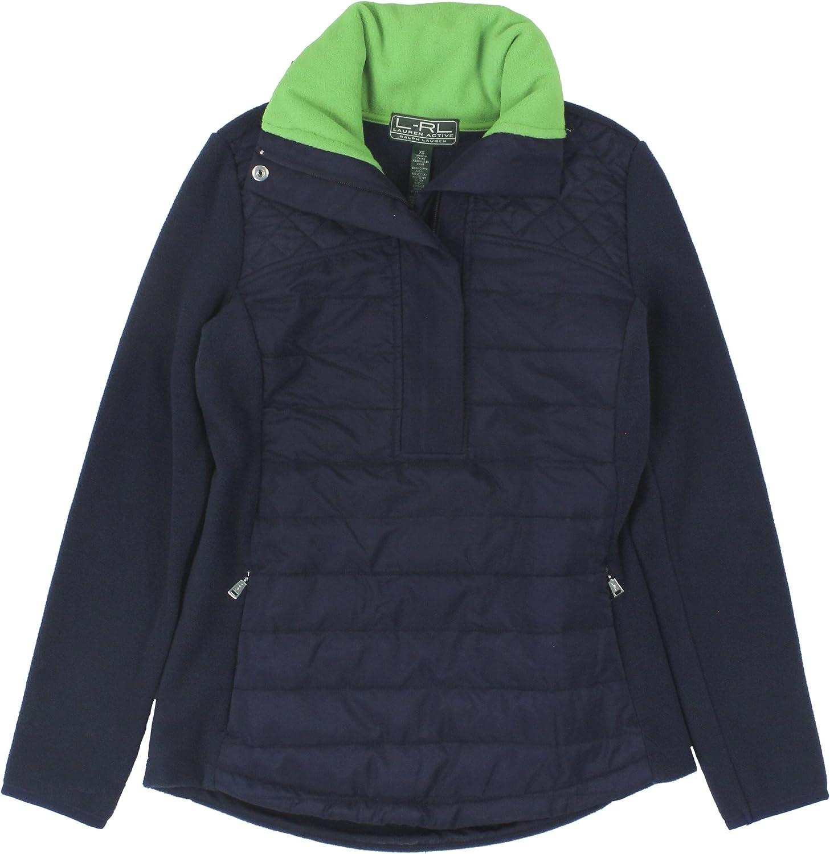 Ralph Lauren Active Women's HalfZip Mockneck Fleece Jacket