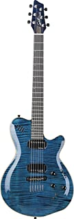 Godin LGX-SA Solid Body 3-Voice Electric Guitar (Trans Blue AA)