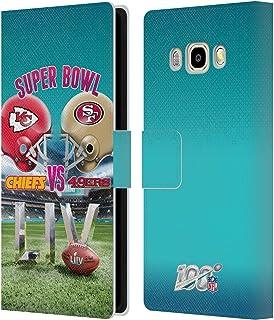 Head Case Designs Oficial NFL Kansas City Chiefs vs San Francisco 49ers 2020 Super Bowl Liv Versus Carcasa de Cuero Tipo Libro Compatible con Samsung Galaxy J5 (2016)