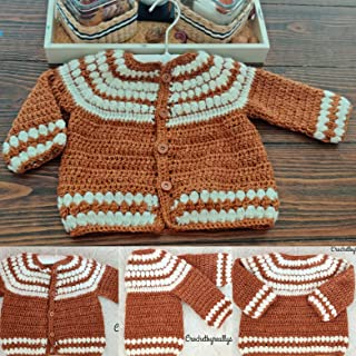 Baby infant pullover, 6-9 month sweater, Red sweater,Homecoming baby, Gender neutral sweater, baby cardigan