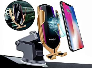 Balbo QI Wireless Car Charger Mount Automatic Clamping Fast Charging Phone Holder Dashboard Air Vent Windshield Dash Compatible with iPhone 11 Pro Max/Xs Max/XR/Xs/8 Plus+ Samsung Galaxy S10e/S10/S9