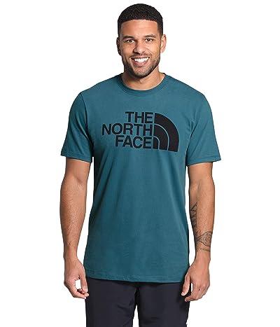 The North Face Short Sleeve Half Dome T-Shirt (Mallard Blue/TNF Black) Men