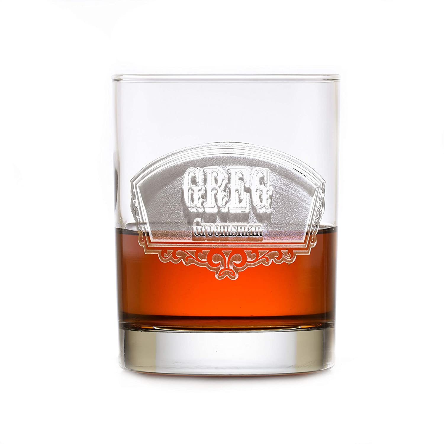 Las Vegas Mall Groomsmen Personalized Double Old Scot Glass Fashioned Trust Whiskey
