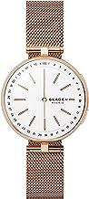 Skagen Connected Signatur - Reloj inteligente híbrido de malla de acero inoxidable para mujer