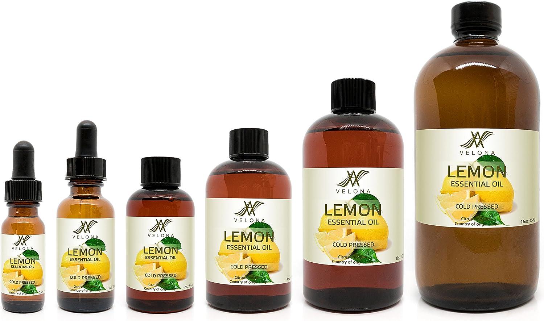 Lemon Essential Oil by Velona お買い得品 - Ar oz Therapeutic 24 for Grade スーパーセール