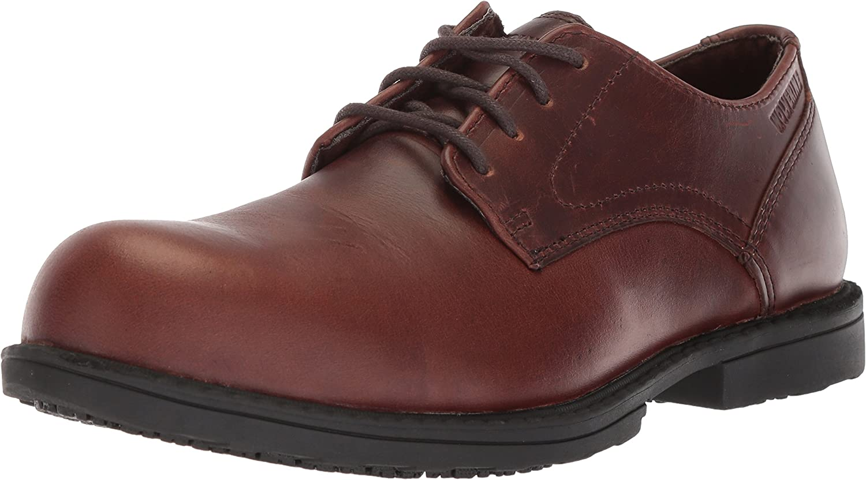Wolverine Men's Bedford Steel-Toe Oxford SR Industrial shoes, Brown, 10 Extra Wide US