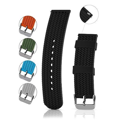 Silicon Watchband 20mm: Amazon com