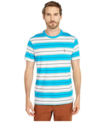 Original Penguin Engineered Stripe Tee (Caribbean Sea) Men