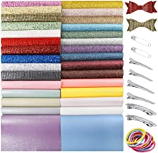 Caydo 30 Pieces Various Styles Fabric Bow Sheets for Hair Bows, Making Boutonniere, Tie at Party or Daily Wear