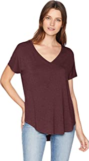Amazon Brand - Daily Ritual Women's Jersey Short-Sleeve V-Neck Longline T-Shirt