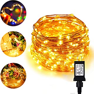 Chalpr LED String Lights, 66ft/20M 200 LEDs Plug in Outdoor and Indoor Decorative Waterproof Copper Wire Warm White Starry Fairy Lights for Bedroom,Garden,Patio,Parties,Wedding,Valentine's Day