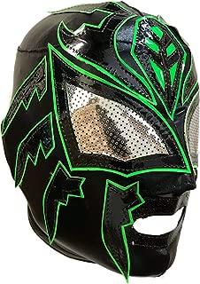 Sombra Lycra PRO Adult Lucha Libre Wrestling Mask (pro-Lycra) Black/Green