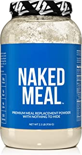 Naked Meal - Healthy Meal Replacement Shakes for Weight Loss or Workout Recovery - Low Carb, Keto Friendly, No Soy, GMO or Gluten - Pre & Probiotics for Gut Health - 2.1 LBS, 26 Servings