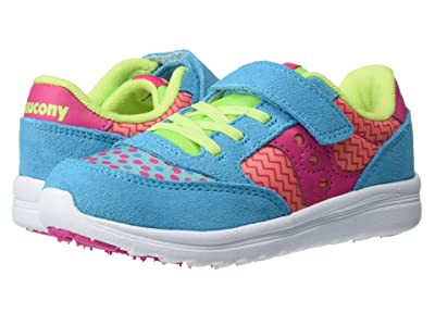 Saucony Kids Originals Baby Jazz Lite (Toddler/Little Kid) (Turquoise/Multi Print) Girls Shoes