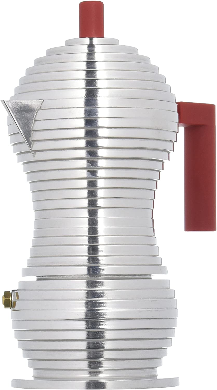 Alessi Cafetera de espresso Pulcina, rojo, 150 ml