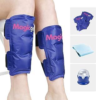 تسکین دهنده Shin Splint: بسته های یخی مخصوص Shin Splints ، Cryoball و Stretch Bands (Shin Splints Pain Pain Relief Support) توسط Magic Gel
