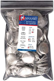 100 Buttons to Cover - Made in USA - Cover Buttons With Flat Backs Size 60 (1 1/2