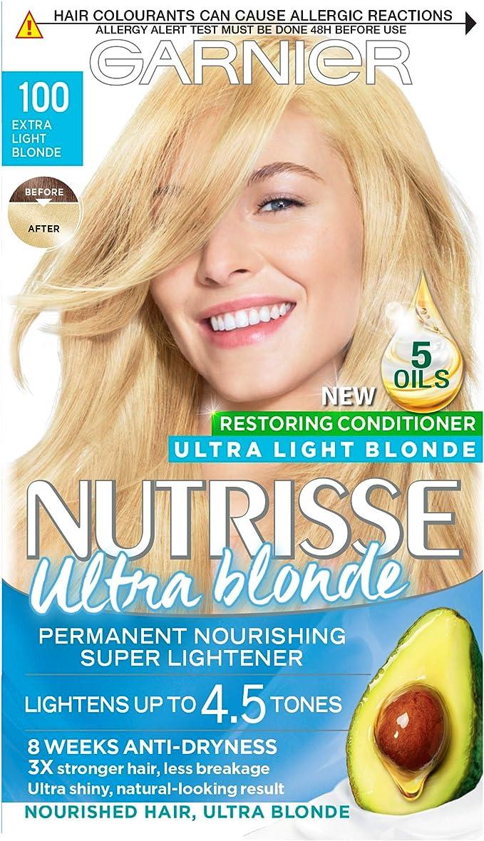 Garnier Nutrisse 100 - Tinte para el cabello permanente, Extra Light Blonde