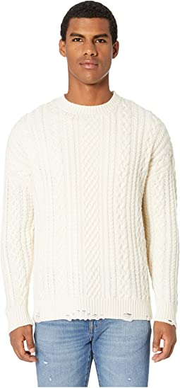 Distressed Cashmere Wool Sweater