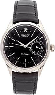 Rolex Cellini Mechanical (Automatic) Black Dial Mens Watch 50519 (Certified Pre-Owned)
