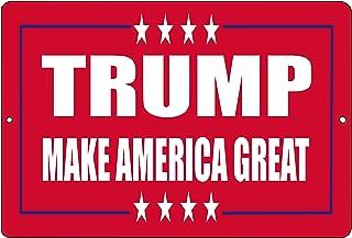 Rogue River Tactical Donald Trump Red Metal Tin Sign Wall Decor Man Cave Bar Make America Great