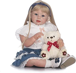 NPK Toddlers Reborn Baby Dolls Girl Soft Silicone Realistic 28