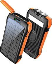 Power Bank Fast Charging 33500mAh Solar Phone Charger, Portable Charger Wireless QC3.0 18W PD 20W with 5 Outputs, External...