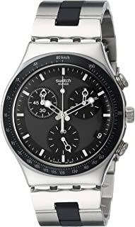 Swatch Men's YCS410GX Windfall Chronograph Silver-Tone Bracelet Watch