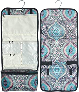 Best Blue Paisley Damask Hanging Toiletries Cosmetic Makeup Travel Bag Case Shower Caddy Kit Set Dorm Travel Essentials Cool Themed Birthday Special Stocking Stuffer Xmas Gift Idea Woman Teen Girl