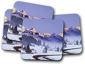 4 Set - Beautiful Mountain Coaster - Switzerland Einsiedelnt Winter Gift #12738
