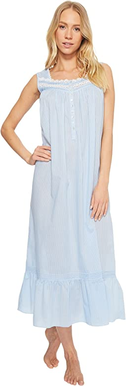 Eileen West - Cotton Rich Sheer Stripe Ballet Nightgown