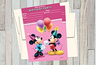 minnie mouse birthday invitations with photo