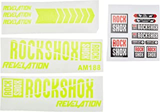 Ecoshirt B2-G2M4-E4TC Pegatinas Stickers Fork Rock Shox Revelation 2018 Am188 Aufkleber Decals Autocollants Adesivi Forcel...