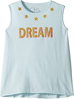 Chaser Kids - Vintage Jersey Glitter Dream Tank Top (Little Kids/Big Kids)