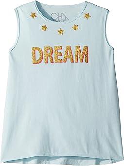 Chaser Kids Vintage Jersey Glitter Dream Tank Top (Little Kids/Big Kids)