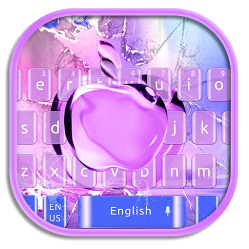 Broken Glass Apple Keyboard Theme