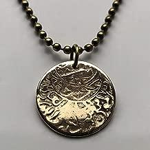 1911-1942 Yemen 1/80 Riyal coin pendant Mutawakkilite Kingdom Sana'a Zaydi Yemeni golden eagle Arabic Islamic Sabaeans Red Sea n003005