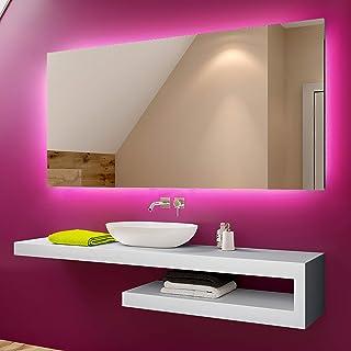 FORAM Espejo de Baño con Iluminación LED - Luz Espejo de Pared con Accesorios - Diferentes tamaños para Baño Dormitorio Ma...