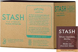Stash Tea White Chocolate Mocha 100 Count (packaging may vary) Individual White Tea Bags for Use in Teapots Mugs or Cups, Brew Hot Tea or Iced Tea