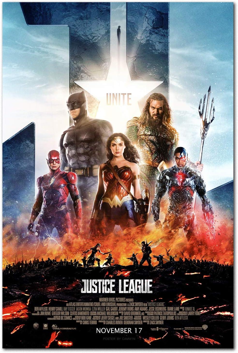 5 ☆ very popular Printing Pira Poster - Justice Movie Wonder League Woman Superior
