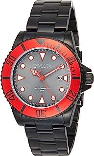 Invicta Men's Pro Diver 44mm Black Stainless Steel Quartz Watch, Black (Model: 90296)