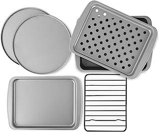 OvenStuff Non-Stick 6-Piece Toaster Oven Baking Pan Set – Non-Stick Baking Pans,..