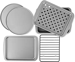 OvenStuff Non-Stick 6-Piece Toaster Oven Baking Pan Set - Non-Stick Baking Pans, Easy to Clean and Perfect for Single Serv...