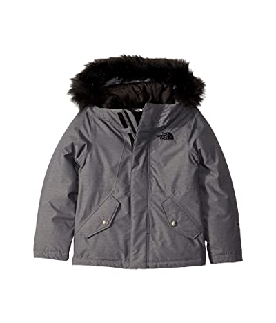 The North Face Kids Greenland Down Parka (Little Kids/Big Kids) (TNF Medium Grey Heather) Girl