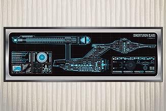 USS Enterprise - 1701 - Constitution Class Starship Poster
