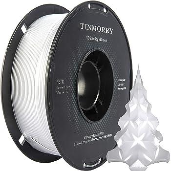 White TINMORRY Filament PETG 1.75mm 1kg 3D Printer Filament 1 Spool