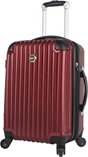 Outlander Carry On Hard Case 20 inch Expandable Rolling Suitcase With Spinner Wheels (20in, Burgundy)