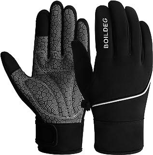 BOILDEG Cycling Gloves Outdoor Windproof Touchscreen Anti-slip Shock-absorbing Pad Bicycle Biking Gloves for Men & Women